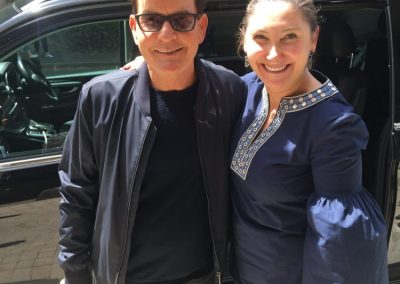 Charlie Sheen goes to dentist in Sydney Valerie