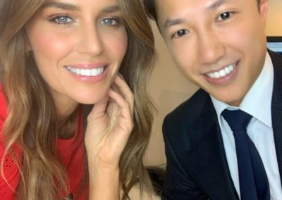 Jodi Anasta with Dr Michael Cai Zoom Teeth Whitening